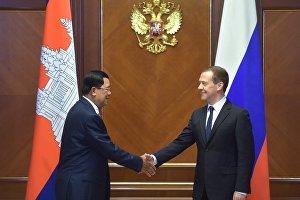 Dmitry Medvedvev meets with Prime Minister of Cambodia Hun Sen