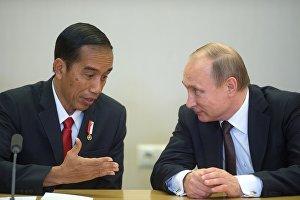 Vladimir Putin meets with Indonesian President Joko Widodo