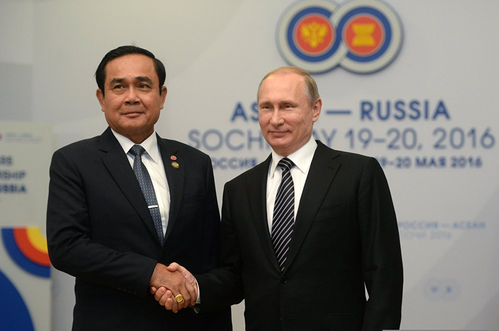 Russian President Vladimir Putin's bilateral meeting with Prime Minister of Thailand Prayut Chan-o-cha