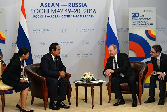 Vladimir Putin meets with Prime Minister of Thailand Prayut Chan-o-cha