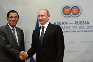 Vladimir Putin meets with Prime Minister of Cambodia Hun Sen