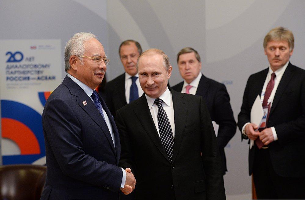 vRussian President Vladimir Putin's bilateral meeting with Prime Minister of Malaysia Najib Razak
