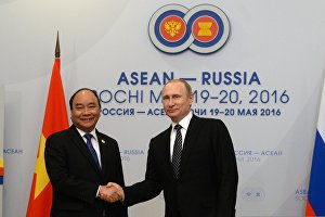 Russian President Vladimir Putin's bilateral meeting with Prime Minister of Vietnam Nguyen Xuan Phuc