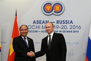 Russian President Vladimir Putin's bilateral meeting with Prime Minister of Vietnam Nguyen Xuan Phuc