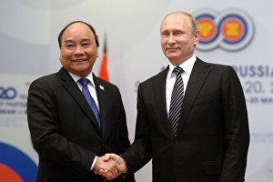 Встреча Владимира Путина с премьер-министром Социалистической Республики Вьетнам Нгуен Суан Фуком