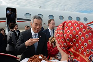Prime Minister of Singapore Lee Hsien Loong arrives in Sochi for ASEAN-Russia Summit