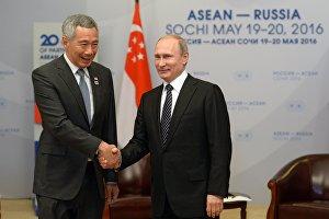 Двусторонняя встреча президента РФ В. Путина с премьер-министром Республики Сингапур Ли Сянь Луном
