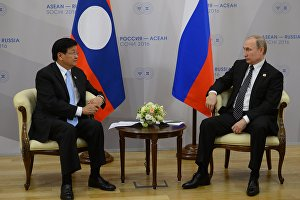 Встреча Владимира Путина с Премьер-министром Лаосской Народно-Демократической Республики Тхонглуном Сисулитом