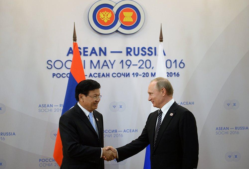 President Vladimir Putin's bilateral meeting with Prime Minister of Laos Thongloun Sisoulith