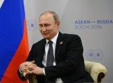 Двусторонняя встреча президента РФ В. Путина с премьер-министром Лаосской Народно-Демократической Республики Тхонглуном Сисулитом
