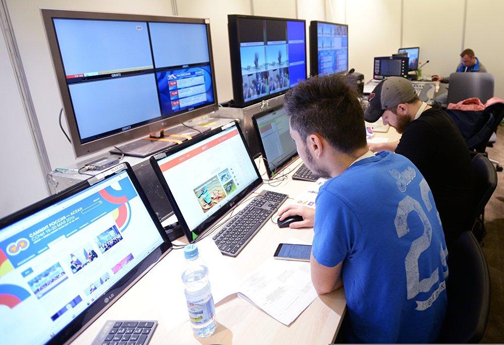Работа Международного пресс-центра саммита Россия — АСЕАН