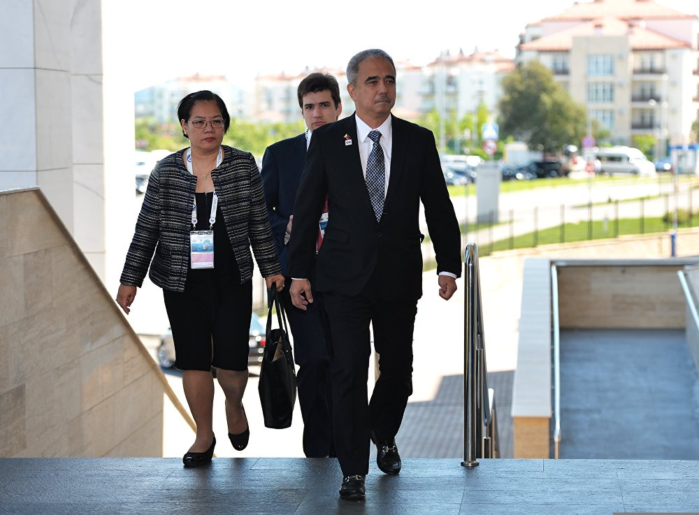 Delegation heads - ASEAN-Russia Summit participants arrive at Congress Centre in Sochi