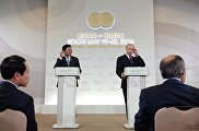 Пресс-конференция по итогам саммита Россия — АСЕАН президента РФ В. Путина и премьер-министра Лаоса Тхонглуна Сисулита